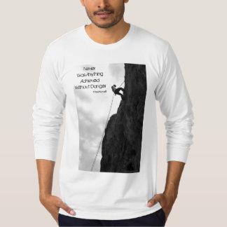 Without Danger Rock Climbing Long Sleeve T-Shirt