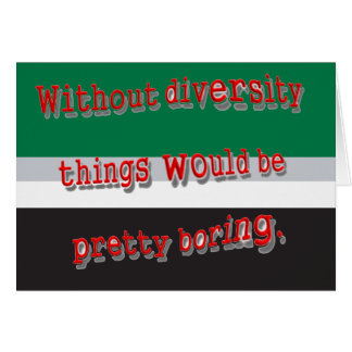 Without Diversity Notecards Card