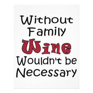 Without Family Wine Letterhead