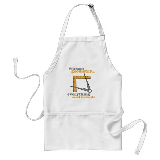 WITHOUT GEOMETRY, EVERYTHING WOULD BE STRAIGHT ADULT APRON