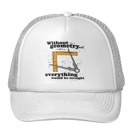 Without Geometry, everything would be straight Hats