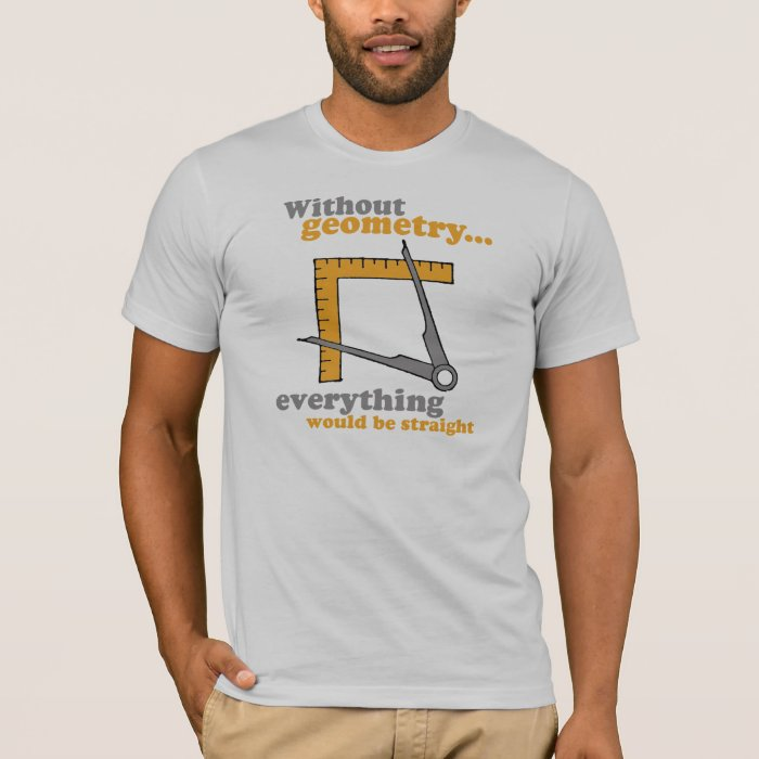 WITHOUT GEOMETRY, EVERYTHING WOULD BE STRAIGHT T-Shirt
