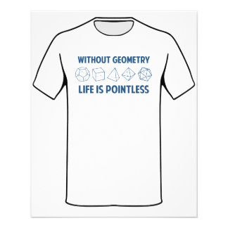 Without Geometry Life Is Pointless Flyer