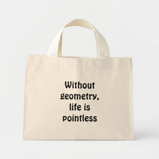 Without geometry, life is pointless mini tote bag