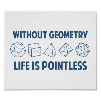 Without Geometry Life Is Pointless Poster