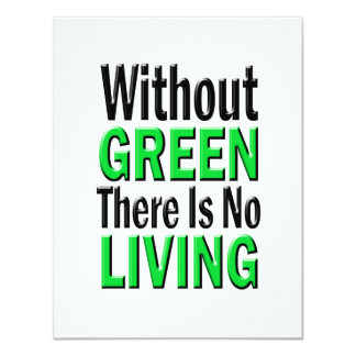 Without Green There is No Living Personalized Announcement