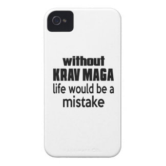 WITHOUT KRAV MAGA, LIFE WOULD BE A MISTAKE iPhone 4 Case-Mate CASES
