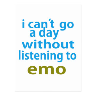 without listening to emo. postcard