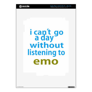 without listening to emo. decals for iPad 3
