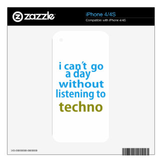 without listening to techno. iPhone 4 skin