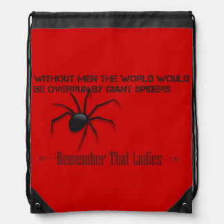 """""""Without Men"""" String Bag - A Funny Quote Design"""