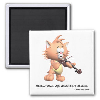 Without Music 2 Inch Square Magnet