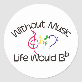 Without Music Classic Round Sticker