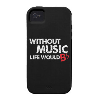 Without Music, Life would b flat! iPhone 4/4S Case