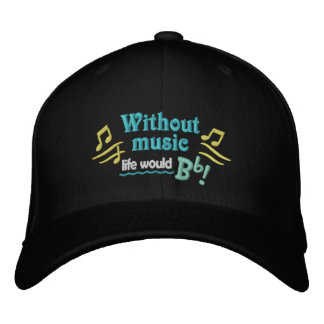 Without Music Life Would Bb Cap Embroidered Baseball Caps