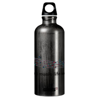Without music, life would Bb Water Bottle