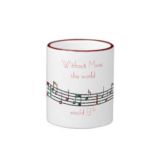 Without Music mug