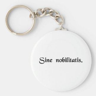 Without nobility. basic round button keychain
