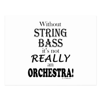 Without String Bass - Orchestra Postcard