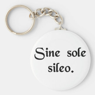 Without the sun I'm silent. Basic Round Button Keychain