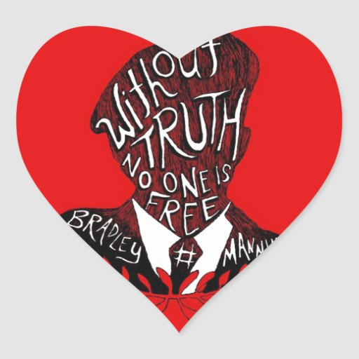 Without Truth, No One is Free Heart Sticker