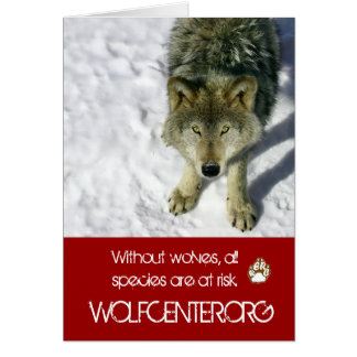Without Wolves Notecards Card