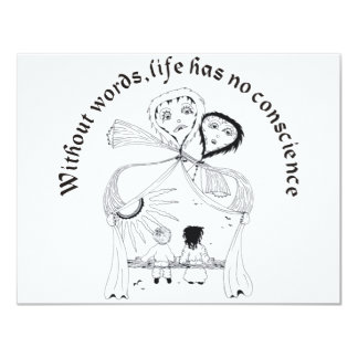 Without Words, Life has nos conscience Card