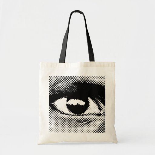 WITNESS eye#1 tote Canvas Bags