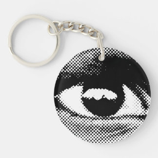 WITNESS eye key chain one sided circle
