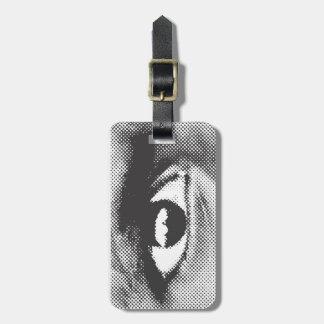WITNESS eye luggage tag