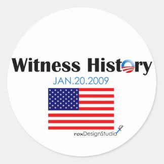 Witness History Classic Round Sticker