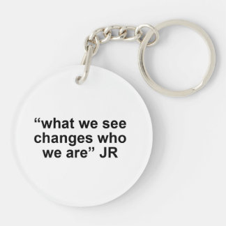 WITNESS key chain double sided circle