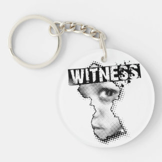 WITNESS key chain one sided