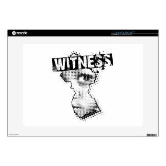 WITNESS logo laptop skin #1