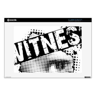 WITNESS logo laptop skin #2