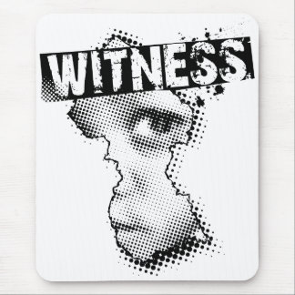 WITNESS logo mouse pad