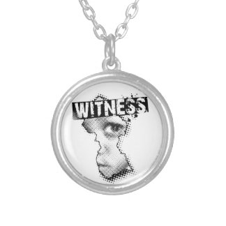 WiTNESS necklace plate, or solid silver available