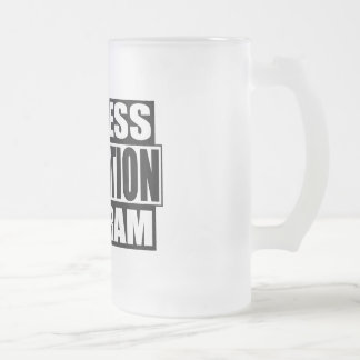 witness relocation program frosted glass beer mug