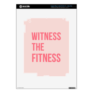 Witness The Fitness Exercise Quote Pink iPad 3 Decal