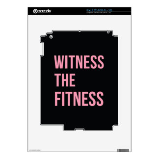 Witness The Fitness Funny Quote Black Pink Decals For The iPad 2