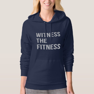 Witness The Fitness Gym Quote Dark White Hoodie