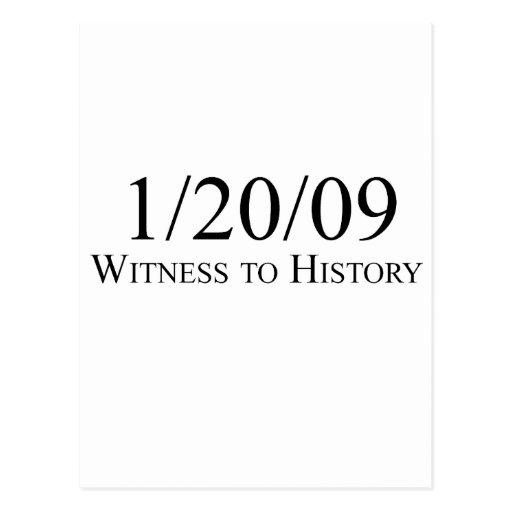 Witness to History: 1/20/09 Postcard