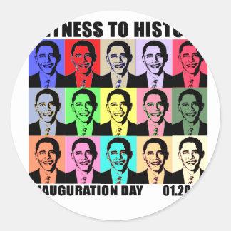 Witness to history: Obama Inauguration Classic Round Sticker