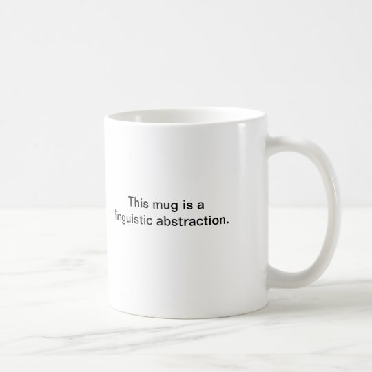 Wittgenstein Abstraction Mug