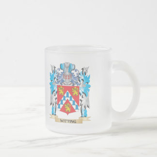 Witting Coat of Arms - Family Crest 10 Oz Frosted Glass Coffee Mug