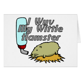 Wittle Hamster Card