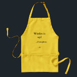 "Wittles is up!, ...if you please, ...sir. adult apron<br><div class=""desc"">Release your inner Killick and snarl out that dinner is ready for those grass-combing buggers.</div>"