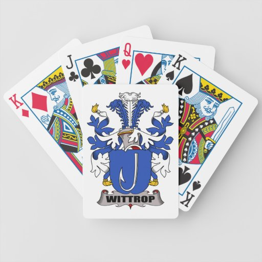 Wittrop Family Crest Bicycle Playing Cards
