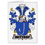 Wittrop Family Crest Card