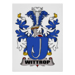 Wittrop Family Crest Poster